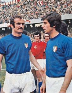 Mazzola (left) and Rivera (right) in 1973
